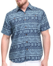 Akademiks - Sculpt Tribal s/s button down shirt