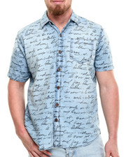 Men - Rides Script s/s button down shirt
