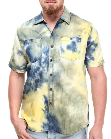 Ur-ID 214312 Akademiks - Men Yellow Craze S/S Button Down Shirt