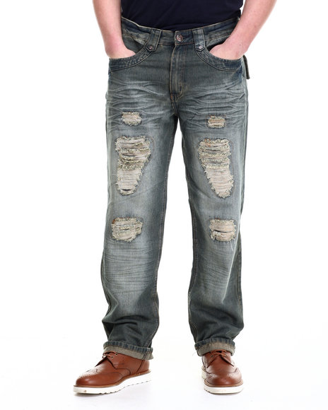 Basic Essentials - Men Medium Wash Hell - Cross Denim Jeans