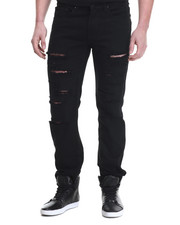Jeans - Night Hawk rip & tears twill pants
