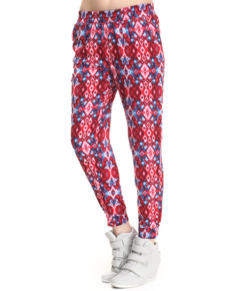 Freestyle - Women Multi Monroe Ikat Print Jogger