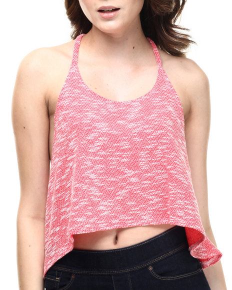 Ali & Kris Women Knit HighLow Tank Top Coral Large