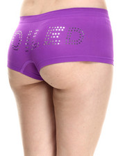 Women - Spoiled Cutout Seamless Boy Short