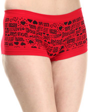 Women - OMG LOL KISS ME Seamless Boy Short