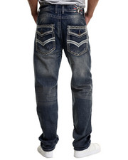 Jeans - Thick - Stitch Flap - Pocket Denim Jeans