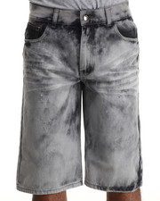 Basic Essentials - Lightning Acid Washed Denim Shorts