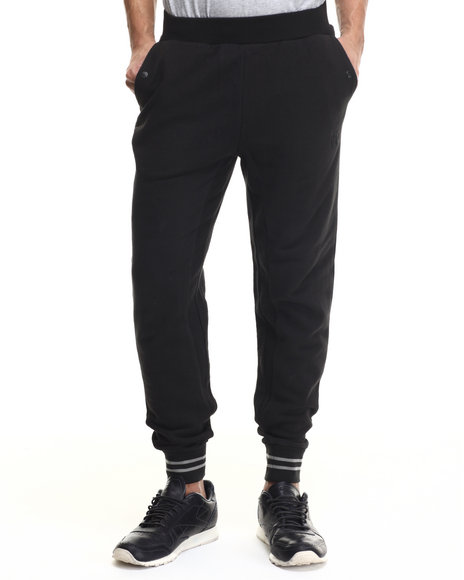 Crooks & Castles - Men Black Aki Sweatpant