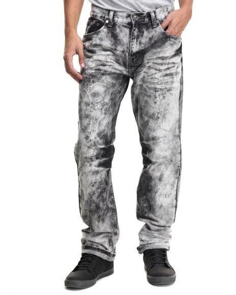 Ur-ID 214401 Monarchy - Men Black Monarchy Cloud Wash Denim Jeans