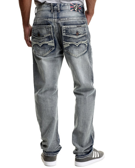 Monarchy - Men Light Wash Thick - Stitch Flap - Pocket Denim Jeans