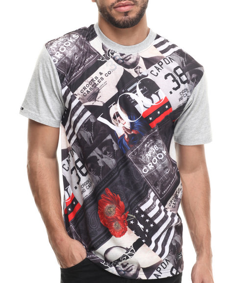 Crooks & Castles - Men White Textbook T-Shirt