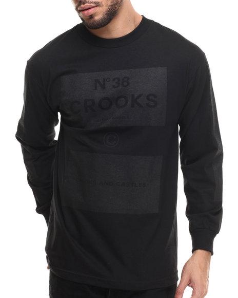 Crooks & Castles - Men Black Blocks 38 L/S T-Shirt