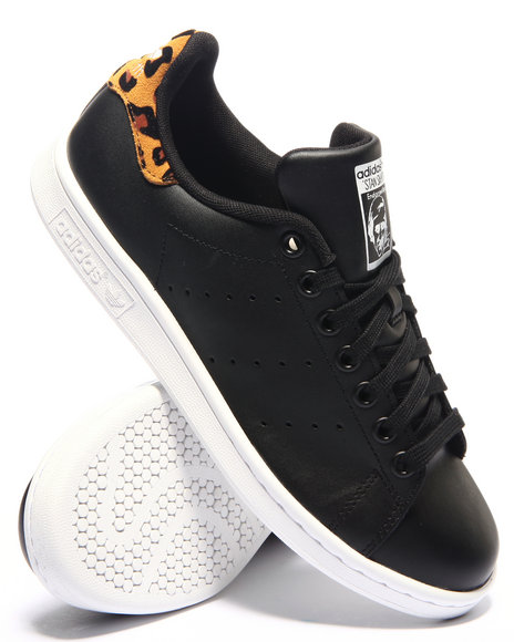 Adidas - Women Black Stan Smith Leopard