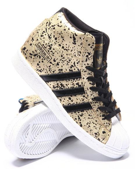 Adidas - Women Gold Superstar Up Sneakers - $90.00