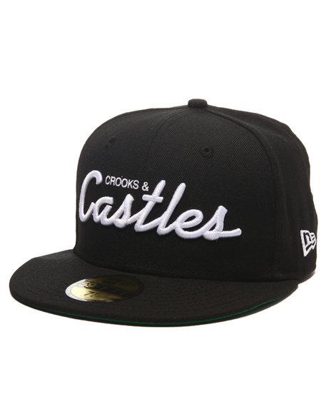 Crooks & Castles - Men Black Team Castles Fitted Cap - $40.00