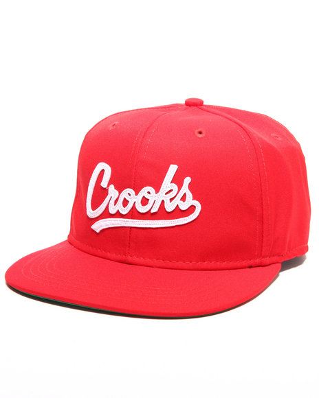 Crooks & Castles Men Crooks League Snapback Red