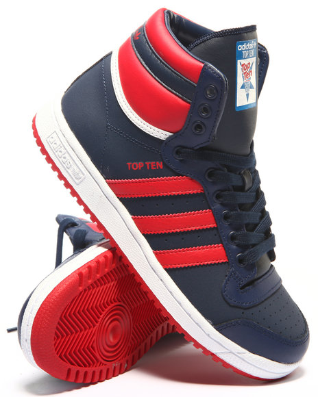 Adidas - Boys Navy Top Ten Hi J Sneakers (3.5-7)