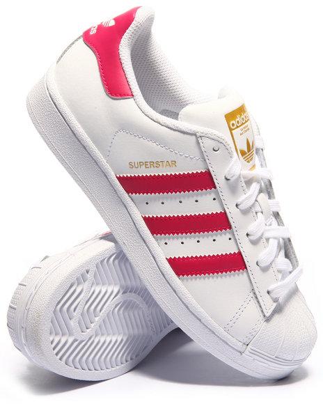 Adidas - Girls Pink Superstar J Sneakers (3.5-7)