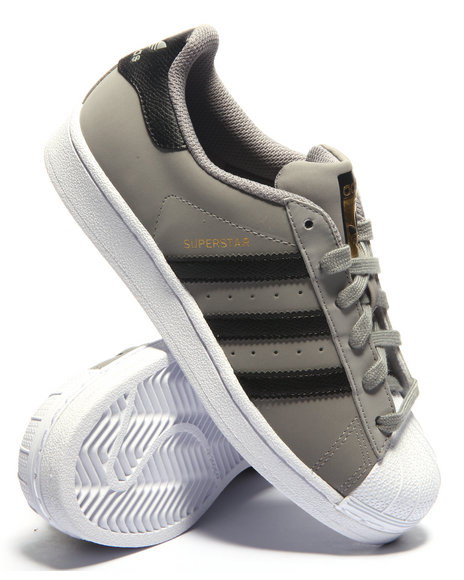 Adidas - Boys Grey Superstar J Sneakers (3.5-7)