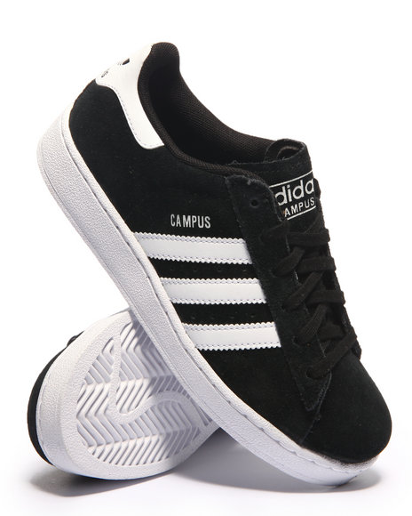 Adidas - Boys Black Campus 2 J Sneakers (3.5-7)