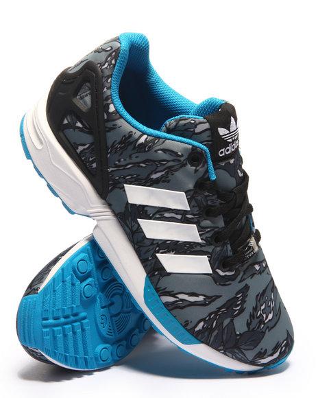 Adidas - Boys Grey Zx Flux K Sneakers (3.5-7)