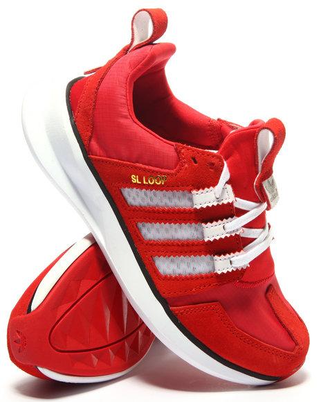 Adidas - Boys Red Adidas Loop Runner J Sneakers (3.5-7)