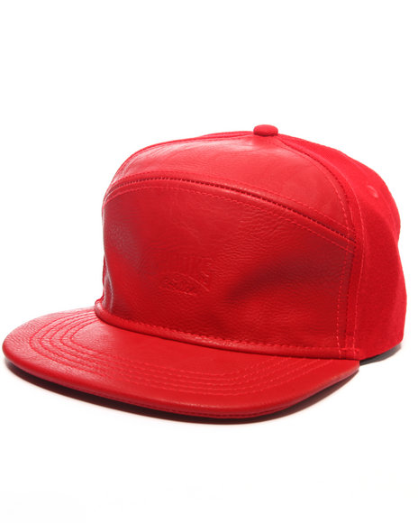 Crooks & Castles Men Core Logo Strapback Red
