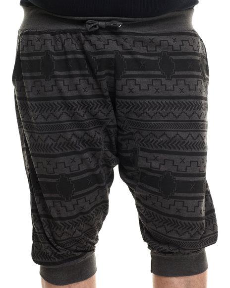 Akademiks - Men Charcoal Fabius Allover Print Capri Shorts (B&T) - $38.00