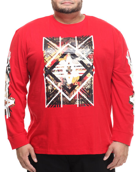Ur-ID 214275 Akademiks - Men Red Axe L/S Shirt (B&T)