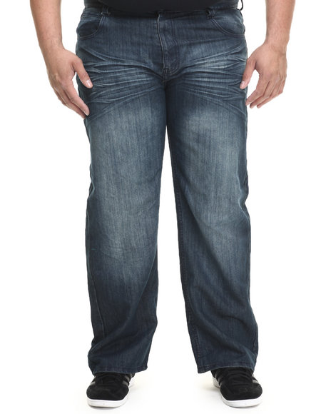 Basic Essentials - Men Dark Wash Washed & Ready Denim Jeans (B&T)