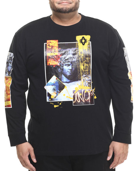 Akademiks - Men Black Roarer L/S Shirt (B&T)