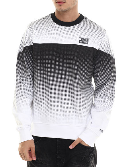 Ur-ID 214450 Parish - Men White Halftone Sweatshirt
