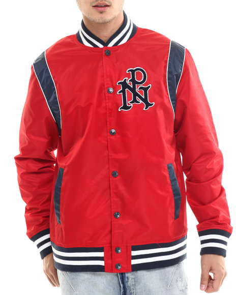 Ur-ID 214454 Parish - Men Navy,Red Starter Jacket