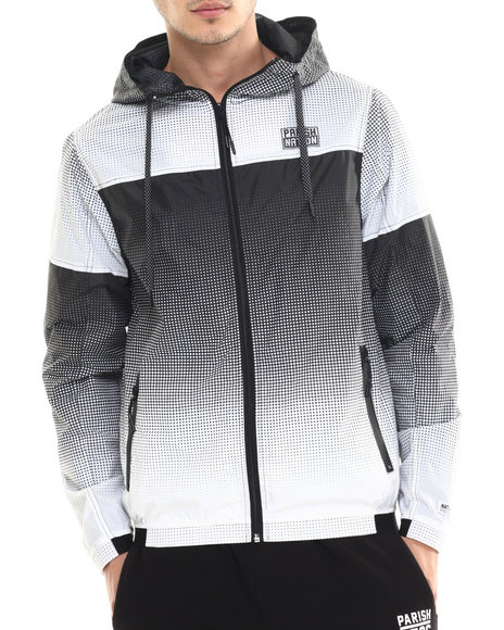 Parish - Men Black,White Nylon Jacket