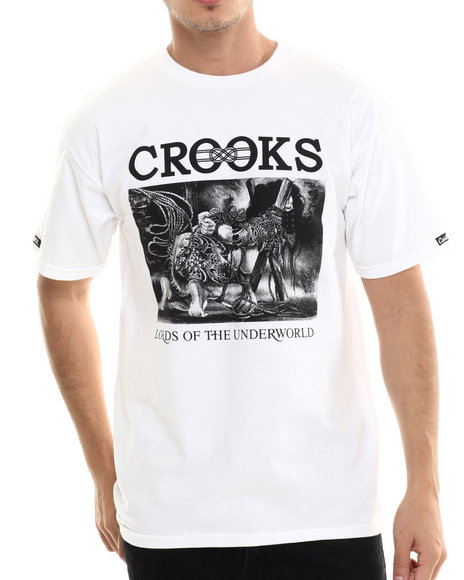 Crooks & Castles - Men White Domination T-Shirt