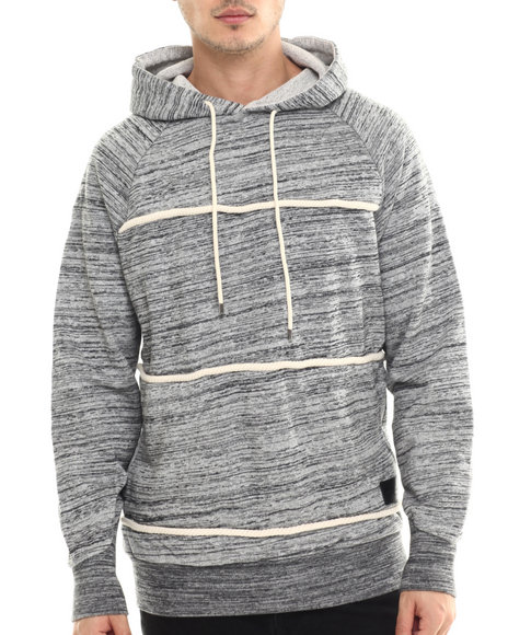 Crooks & Castles - Men Grey Takeshi Pullover Hoodie