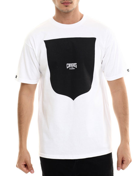 Crooks & Castles - Men White Core Shield T-Shirt