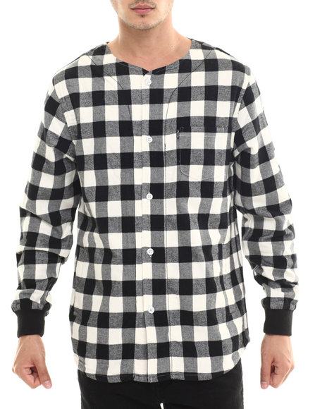 Crooks & Castles - Men Black Overthrown L/S Button-Down