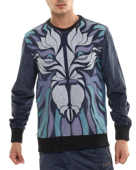Ur-ID 214480 Frost Originals - Men Indigo King Of The Jungle Crewneck Sweatshirt