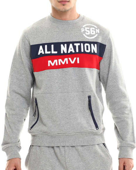 Parish Grey Pullover Sweatshirts