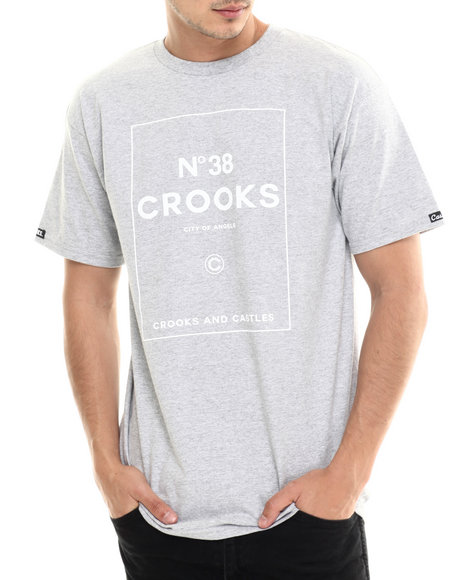 Crooks & Castles - Men Grey N 38 Crooks T-Shirt - $30.00