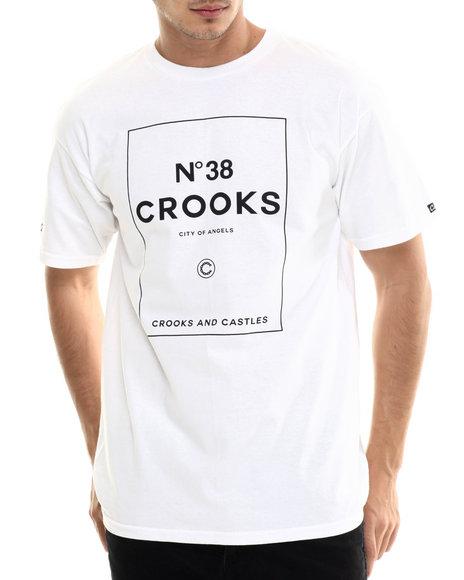 Crooks & Castles - Men White N 38 Crooks T-Shirt - $30.00