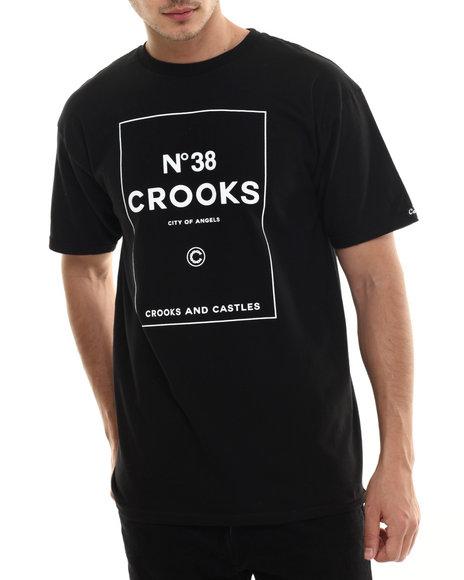 Crooks & Castles - Men Black N 38 Crooks T-Shirt