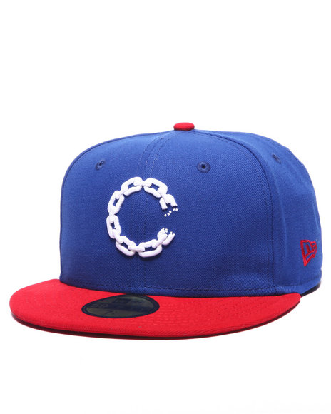 Ur-ID 214339 Crooks & Castles - Men Blue Chain C Fitted Cap