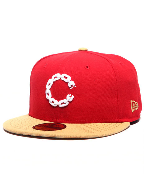 Crooks & Castles - Men Red Chain C Fitted Cap