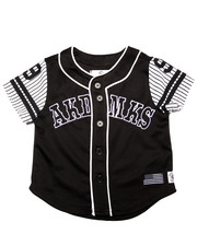 Akademiks - AKA BUTTON UP BASEBALL TEE (2T-4T)