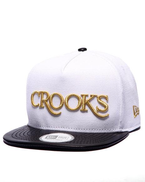 Crooks & Castles Men Thuxury Serif Strapback White