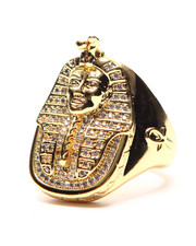Accessories - 14K Gold CZ Pharaoh Ring