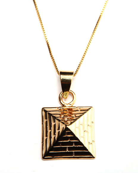 King Ice Men 14K Gold Pyramid Chain Gold