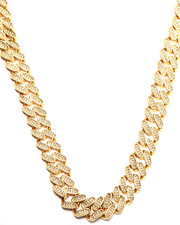 Jewelry & Watches - 14K Gold 15MM CZ Cuban Curb Chain